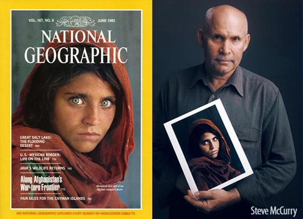 Steve McCurry met zijn bekende coverfoto