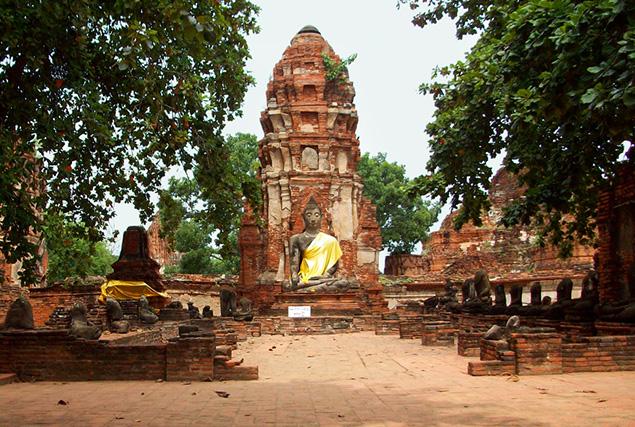 De oude hoofdstad Ayutthaya