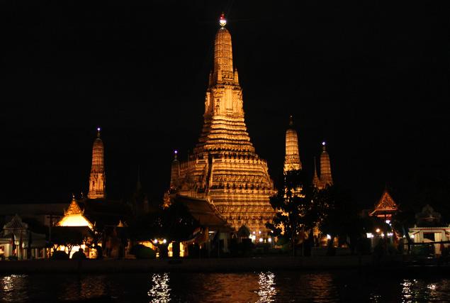 Uitzicht vanaf de Chao Phraya rivier