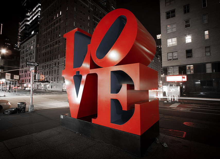 Het LOVE beeld van Robert Indiana in New York © Orkun Kaan Tureyyen