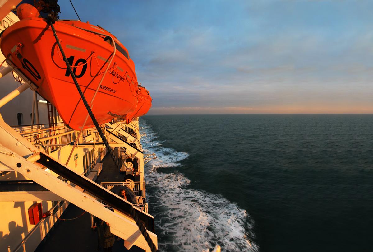 Aan boord van de King Seaways