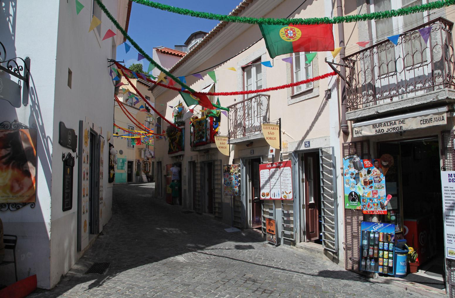 De straten van Lissabon tijdens het WK 2014