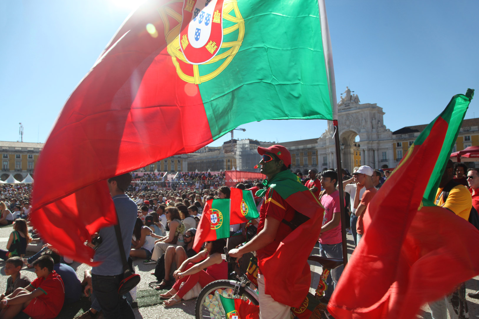 WK-westrijd Portugal-Ghana 2014 in Lissabon